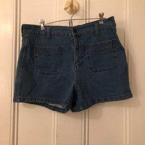Madewell Denim Patch Pocket Short   Size 32